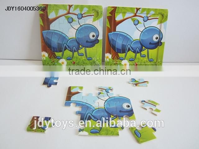 New design wooden cartoon sheep puzzle,Educational toy puzzle game for kid