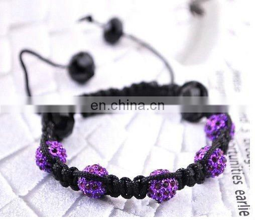 Factory supply crystal ball shamball bracelets
