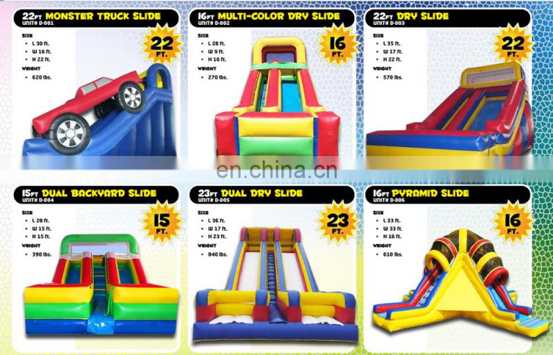 Snow and ice world slide,PVC inflatable slide