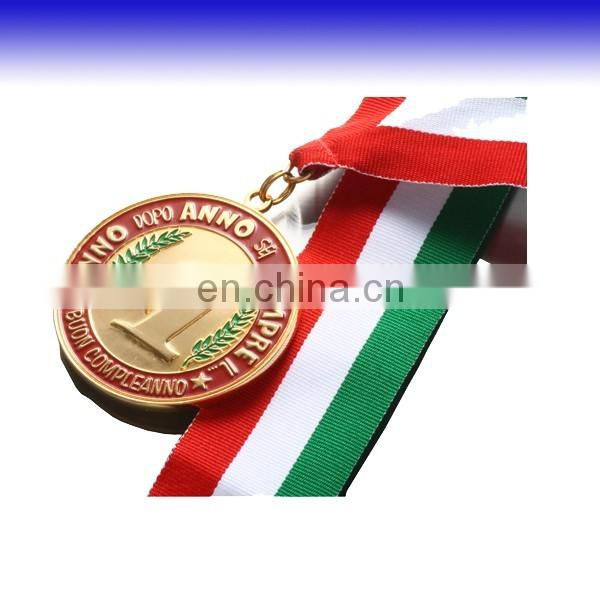 Custom souvenir medal with gold/silver plating