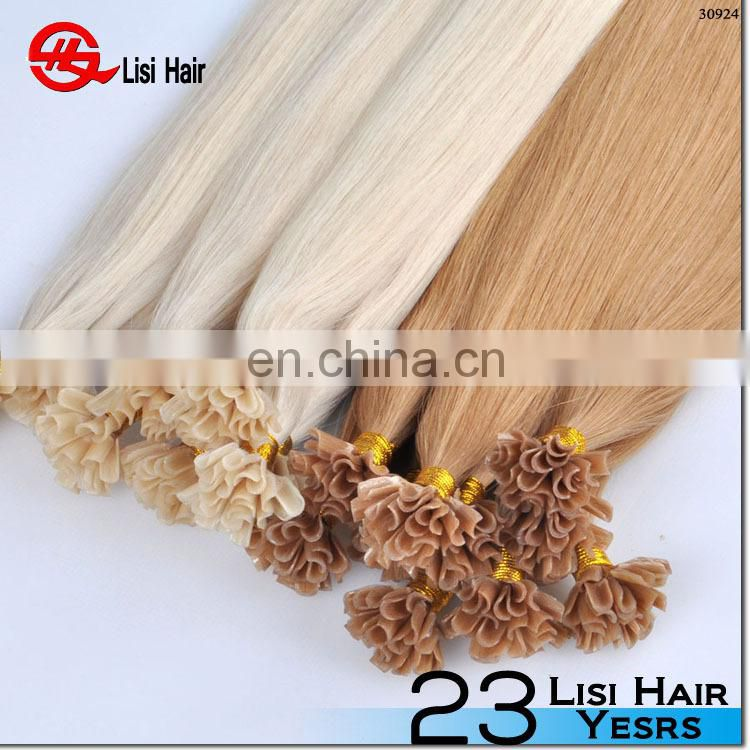 Professional Hair Factory full cuticle European remy u-tip prebonded hair
