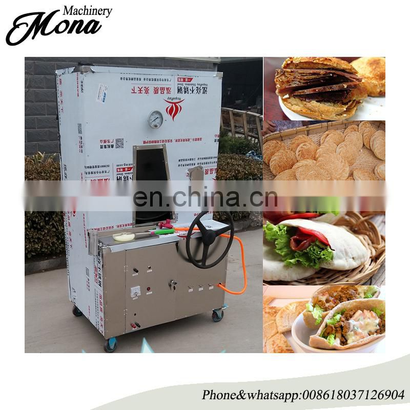Clay oven rolls baking machine/Baked wheat cake furnace/gas sesame seed cake machine Image