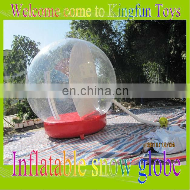 4M photo inflatble global snow ball for christmas