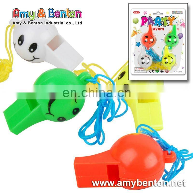 Promotional Colorful Whistle Plastic Whistle Toys Small Whistle