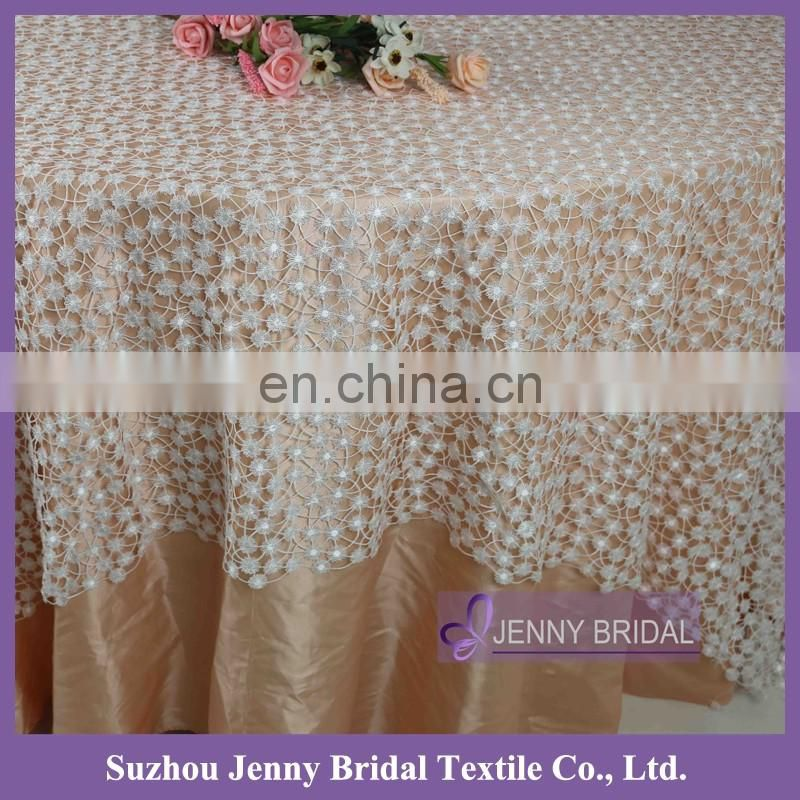 TL055A new chemical lace embroidery tablecloth lace fabric embroidery