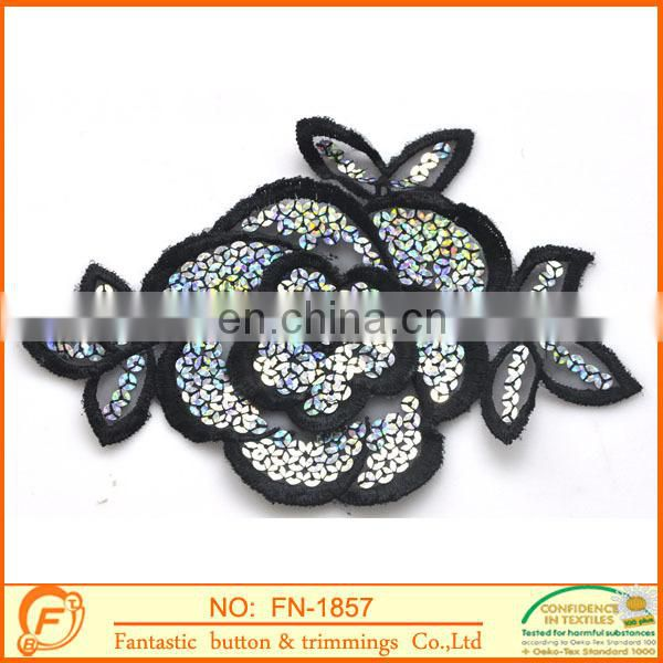 flower pattern sequins collar for women clothings