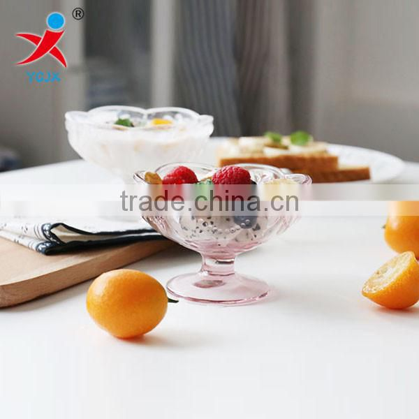 Lotus type glass Ice Cream Cups/European styleDessert glass cup of pudding cup milkshake cup of yogurt goblet