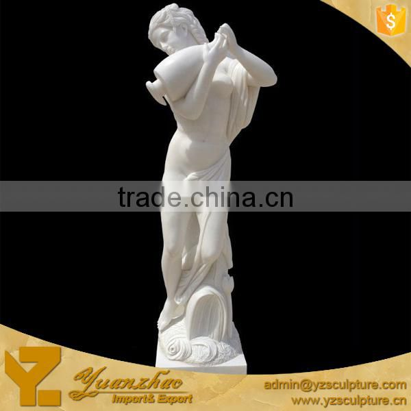Large size white marble western figure man statue for garden decoration