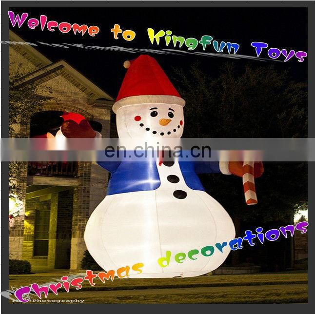 2014 Lighting inflatable snowman for Christmas