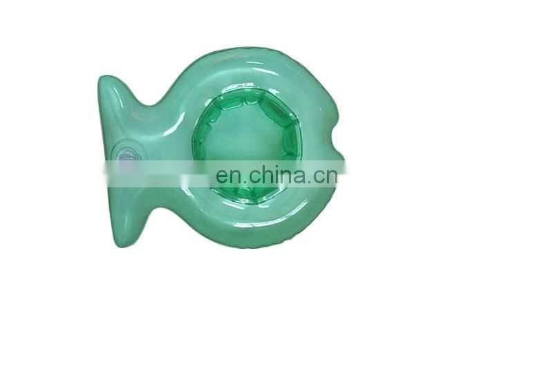 inflatable fish shape cup holder/can holder