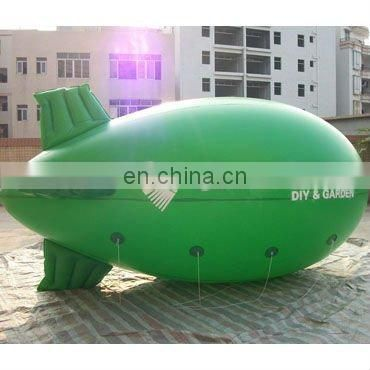green inflatable helium blimp Airship (cube or balloon) for advertising use with customized logos