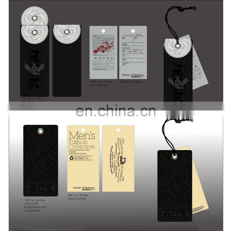 2014 New Design Hot Sale Fashion All Kinds Material Printing Hang Tage With Custom Design