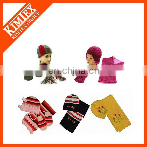 Sports knitted hat and scarf set