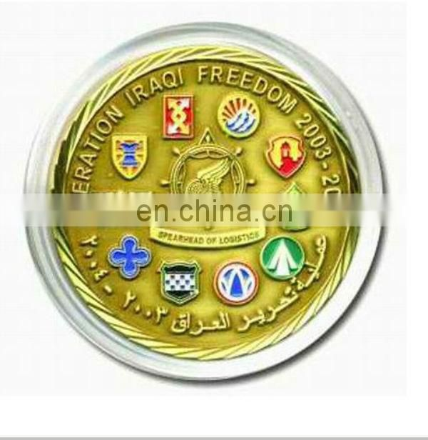 operation iraqi freedom double coin gold coin emboss coin