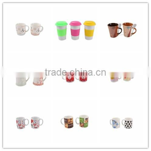 High quality Alibaba China wholesale household nice white ceramic tea cup and saucer