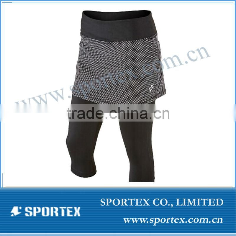 Tennis skirts with 3/4 legging pants, black tennis skirts, OEM tennis wear