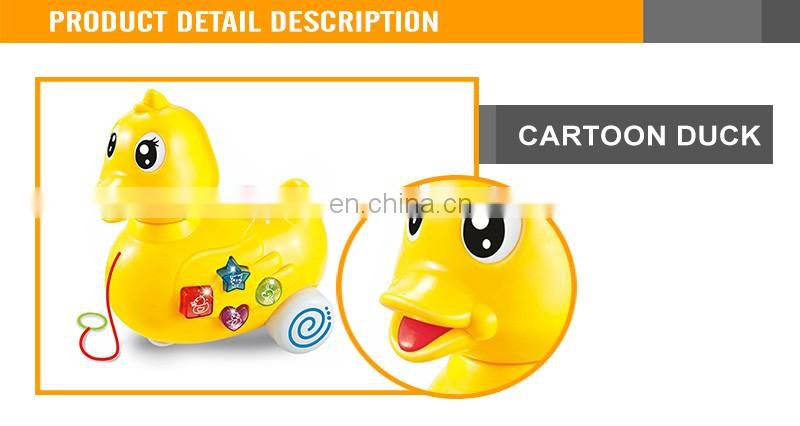 P/L Projection Cartoon Duck With Light& Music Animal Toys For Kids