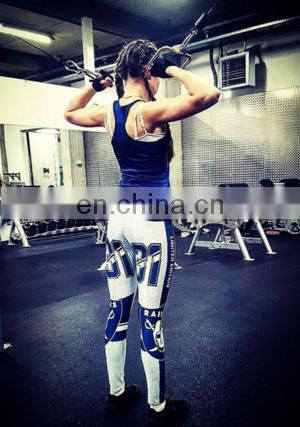 Wholesale New Mix Woman Yoga Fitness Leggins Sports Broncos Leggings Tights American football Exercise Training Sportswear