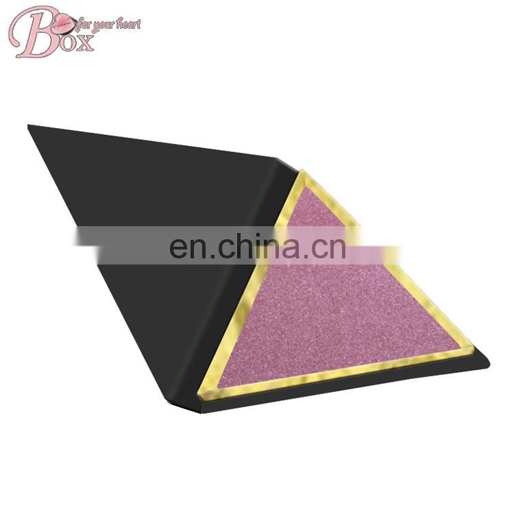 Custom Triangle Jewelry Packaging Box Gift Box with Sponge Inset