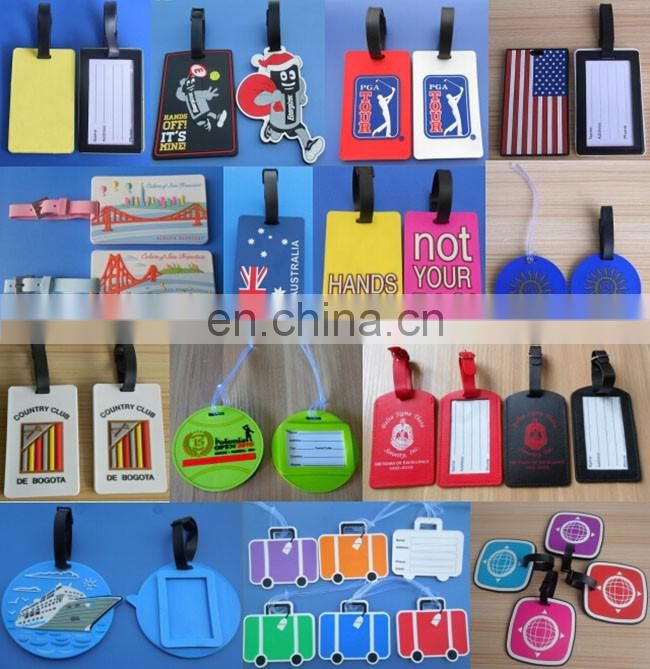 With your own logo and website Travel Hotel Luggage Tag Name Card airplane soft pvc luggage tag