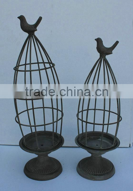 Set of 2 Metal bird feeder