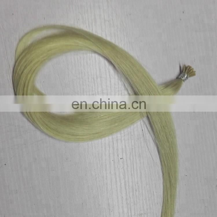 factory supply stick tip hair extension I style blonde pre-bonded hair