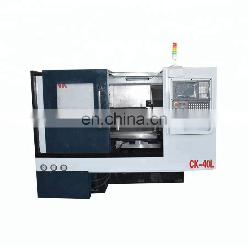 CK40L Servo Spindle Motor 3 Axis Cnc Machine Lathe Image