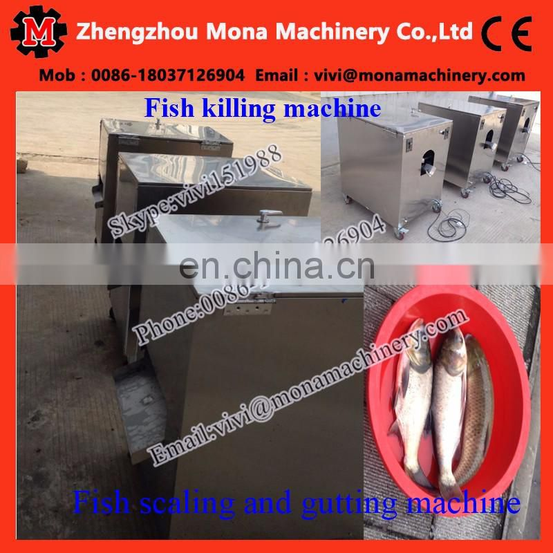 Automatic fish killing machine/fish killer/fish gutting machine
