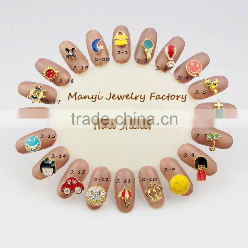 Metal alloy 3D nail art fashionable pearl nail art jewelry wholesale L0016
