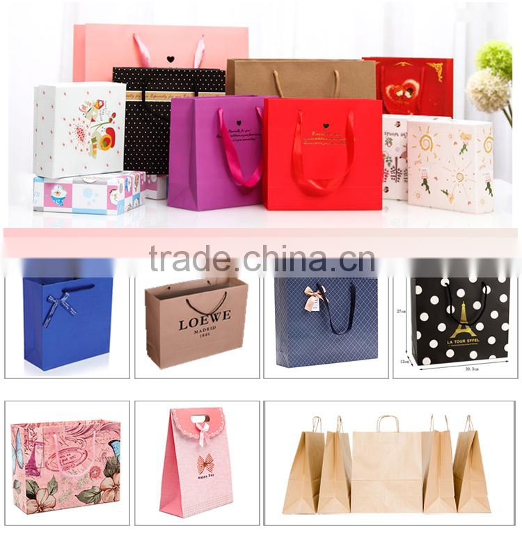 Black goblet various pattern paper bag for personalized wine bottle gift bags