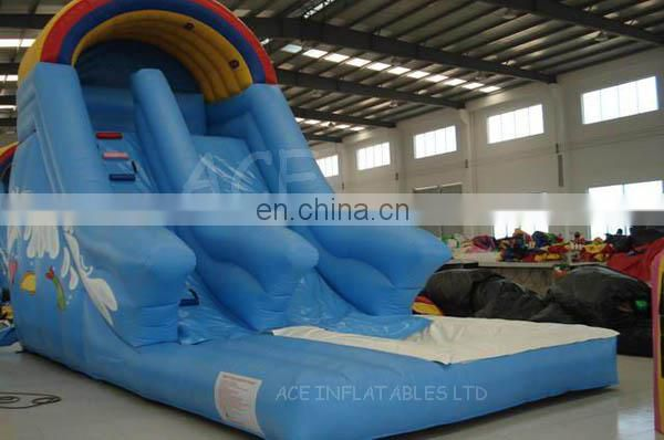 Inflatable combo with bouncer and Water Slide with pool