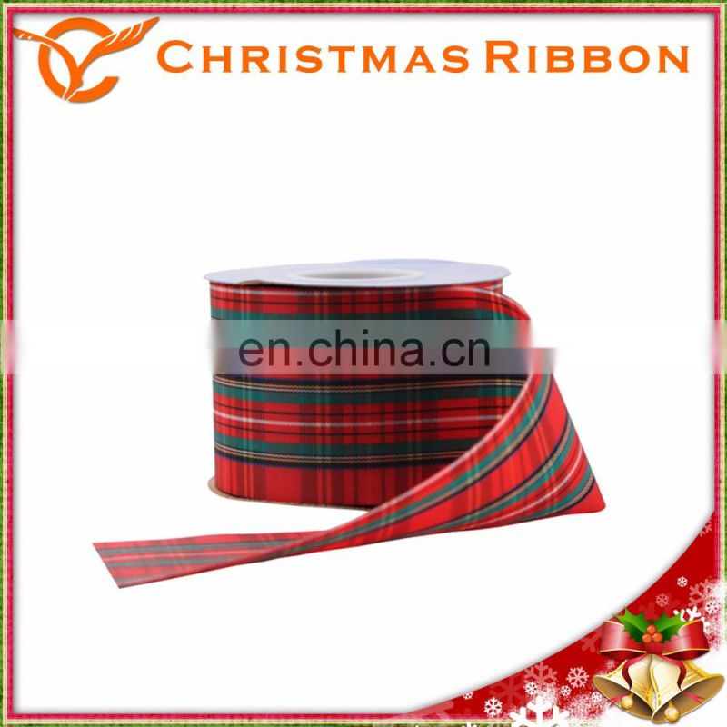 Made In Taiwan Christmas Satin Ribbon For Decorating Tree