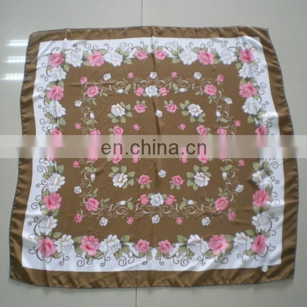 2015 New Design Fashion Ladies' Scarf For Spring, Floral Printing Fashion Scarf, Cotton Square Scarfe