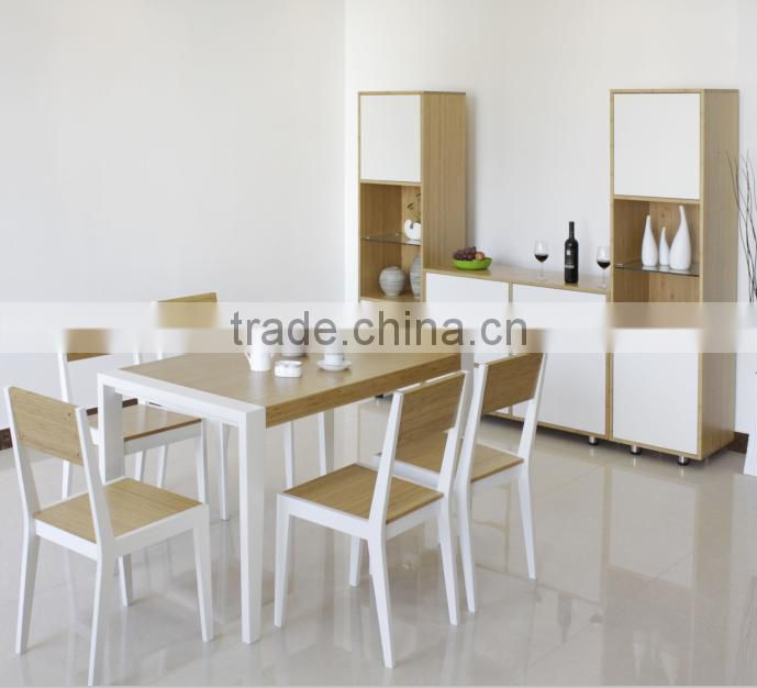 Modern bamboo dining room set with 4 chair price