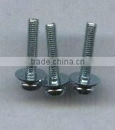 TAIWAN captive washer cap screw pan head screw with collar sems screw with square washer