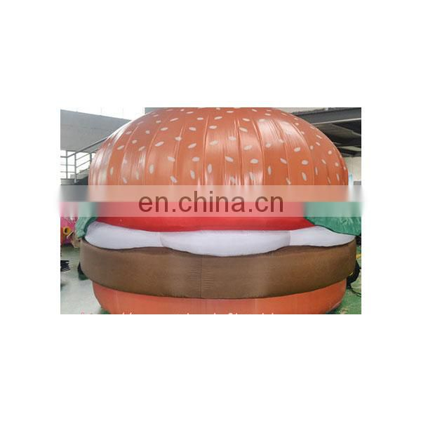 hot advertising food inflatable hamburger with blower