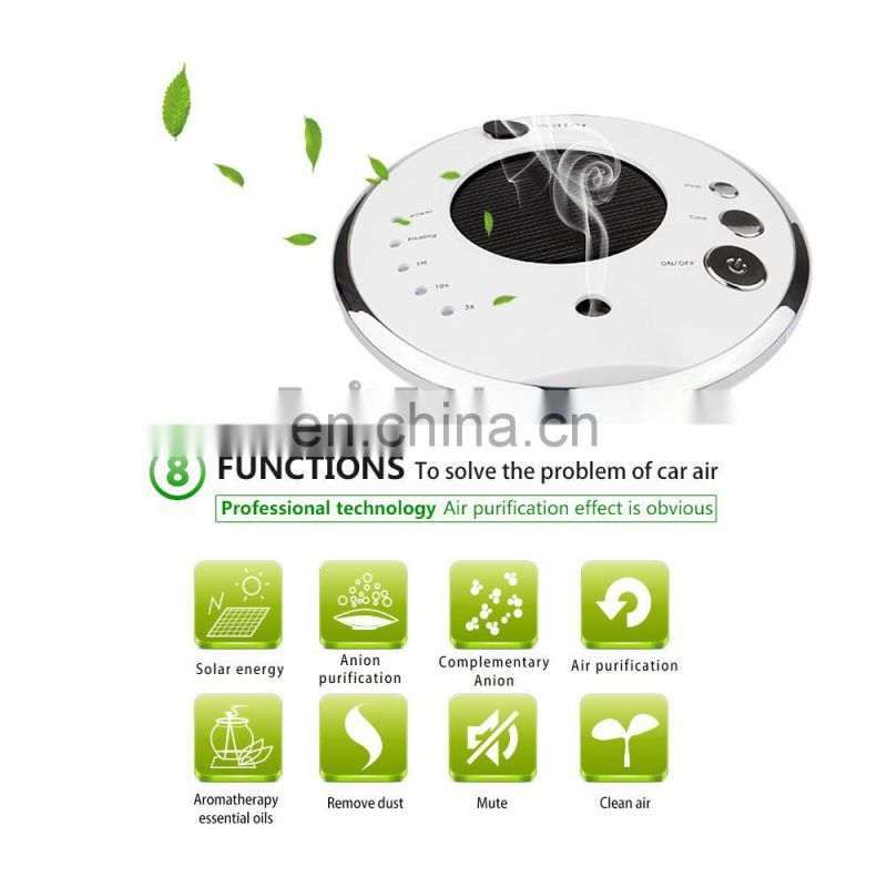 UFO Shape Solar Powered Car Air Freshener Air Purifier for Car, UFO Car Air Purifier Ionizer Oxygen Bar