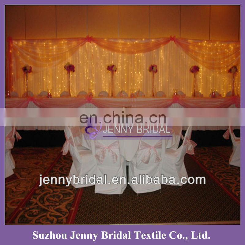 BCK030 2013 wedding chiffon and organza luxurious backdrop for sale