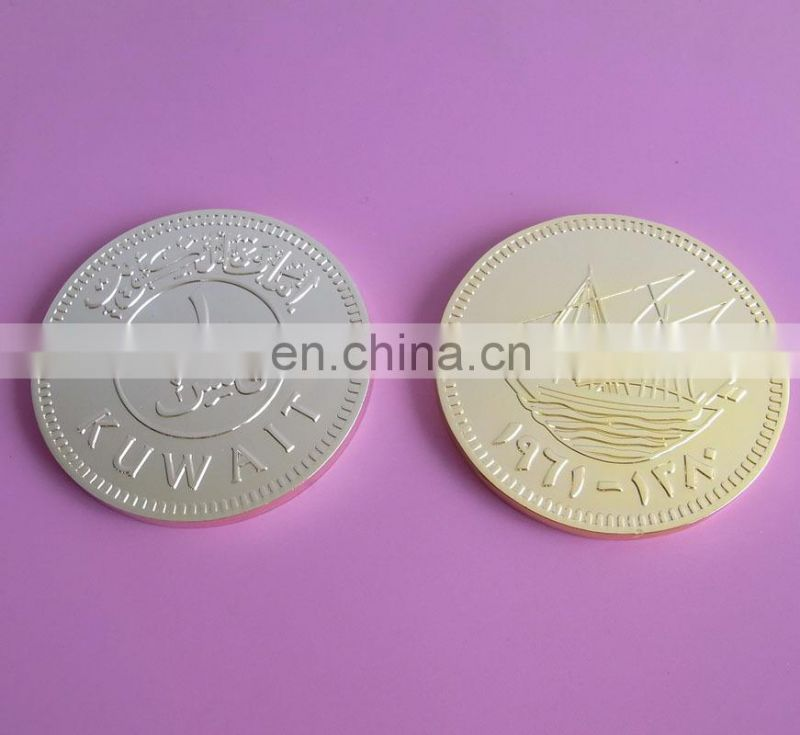 2017 round shape blank coin 5 different plated coins