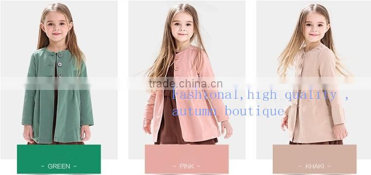 2015 fashion children's coat for winter European double-breasted cotton girls overcoat