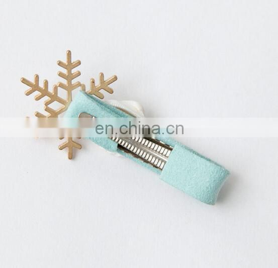 Mint Metal Snowflake Hair Clips Alligator Hair Clip For Flower Girl Hair Accessory