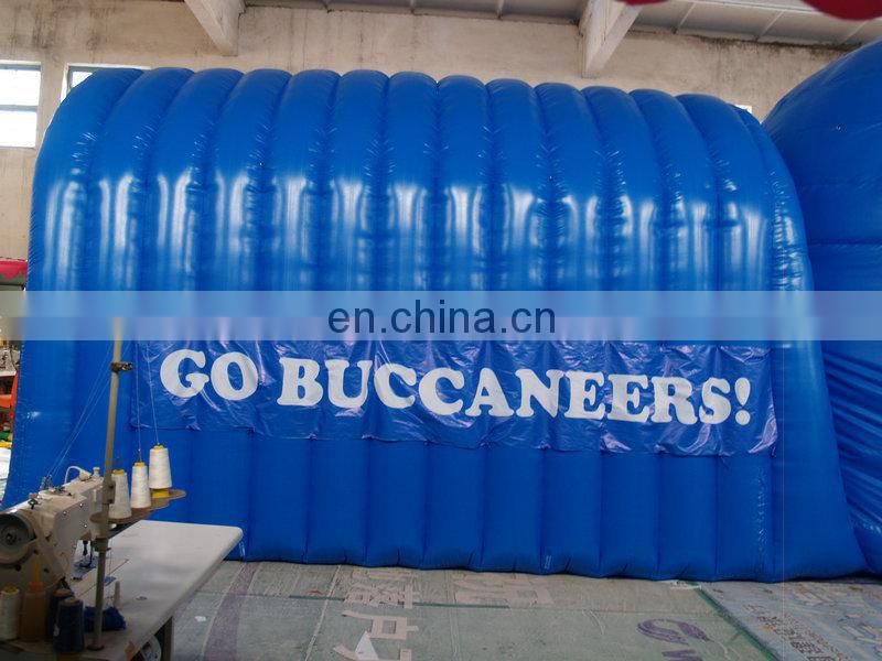 customized printed inflatable football helmet tunnel,inflatable entrance tunnel