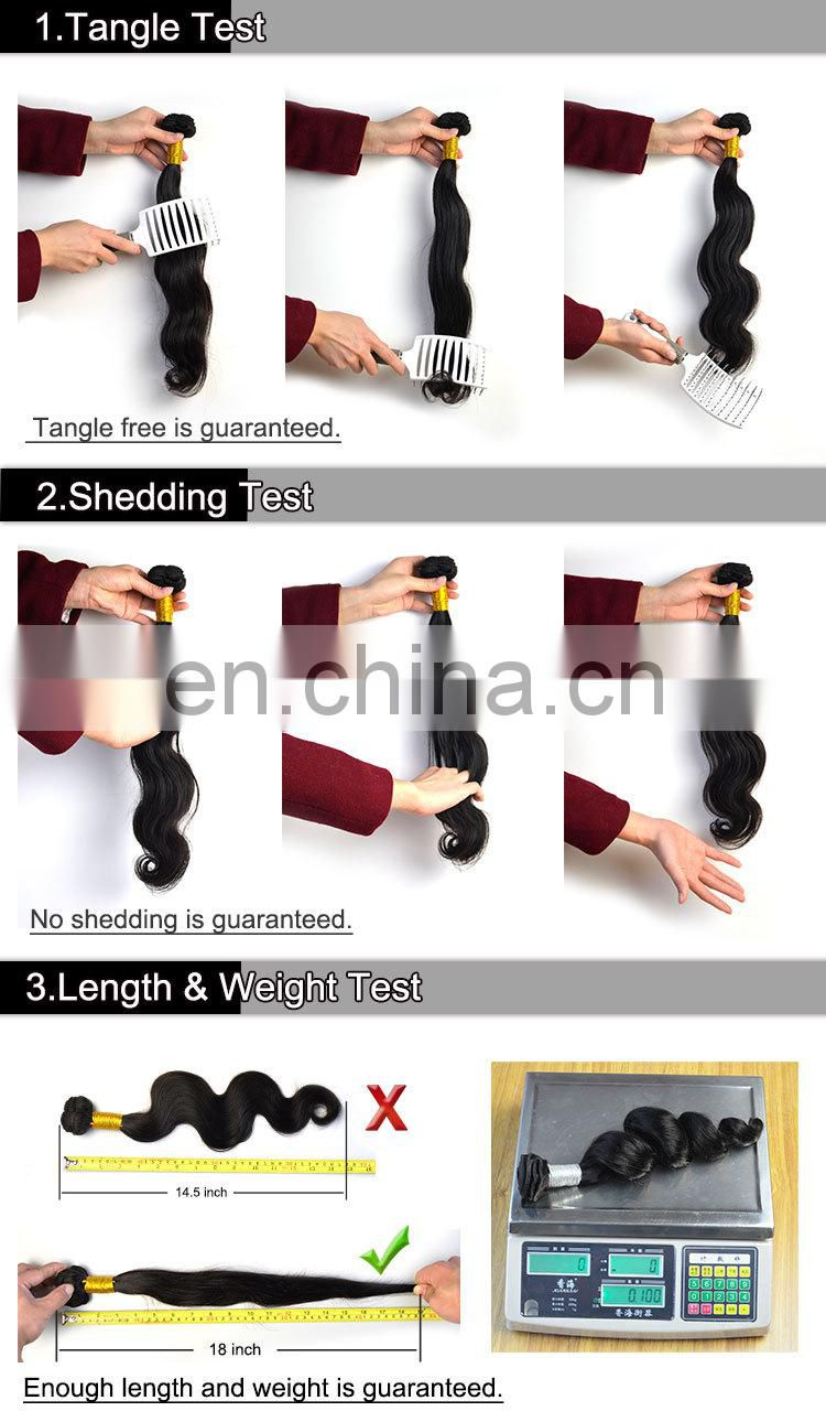 Good Quality Tangle Free And No Shedding 3 Way Part Lace Closure 5x5 Body Wave