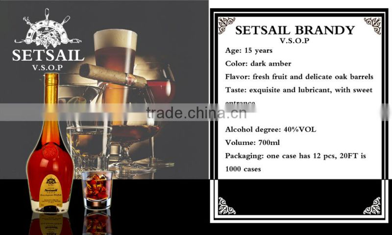 Hot Sale Cheapest price High Quality Brandy, customized OEM & ODM service