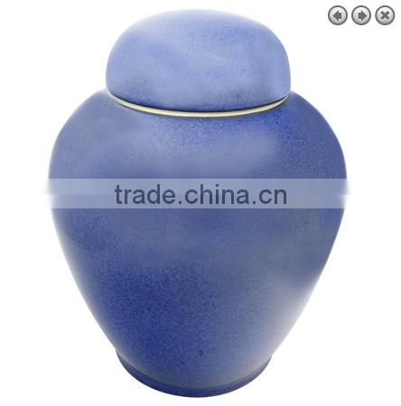 Funeral supplier fired clay ceramic urn for ashes