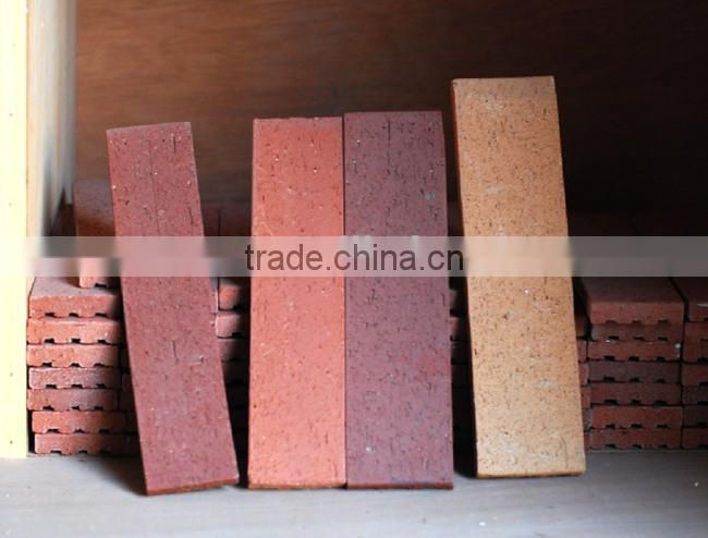 Jiangsu thin clay tile/brick for outdoor wall decoration