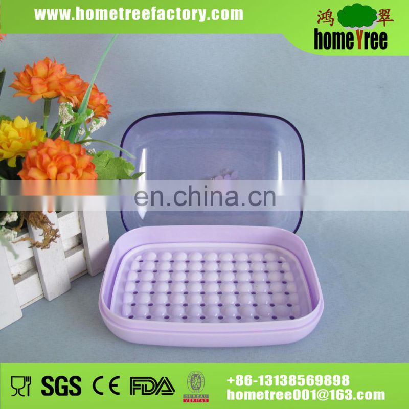 PS/PP Transparent Puple Rectangle Plastic Soap Packaging Box