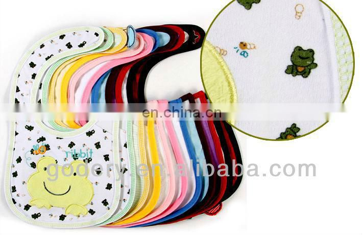 Funny cotton knitted baby bibs