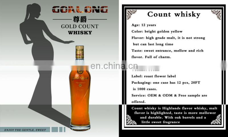 Best whiskey in China bulk blended whisky for distributor price