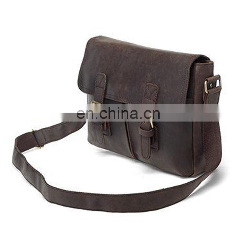 Leather Messenger Travel Sling Bag New